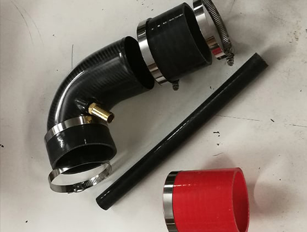 Carbon fibre V6 plenum elbow