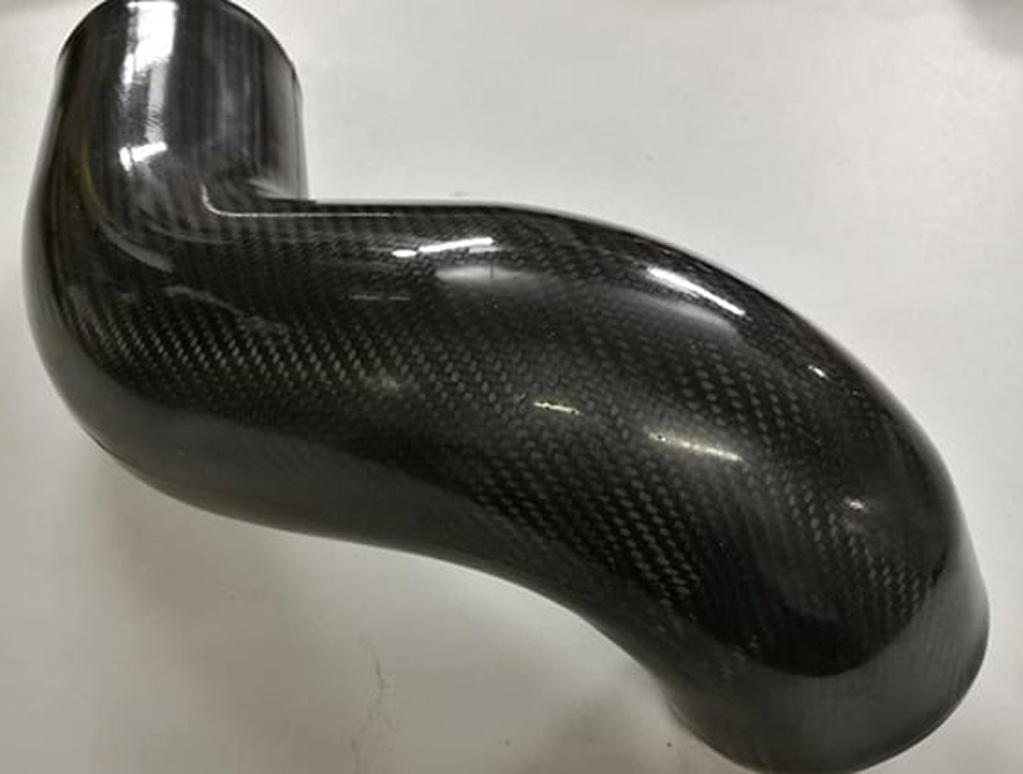 Carbon fibre V6 down pipe