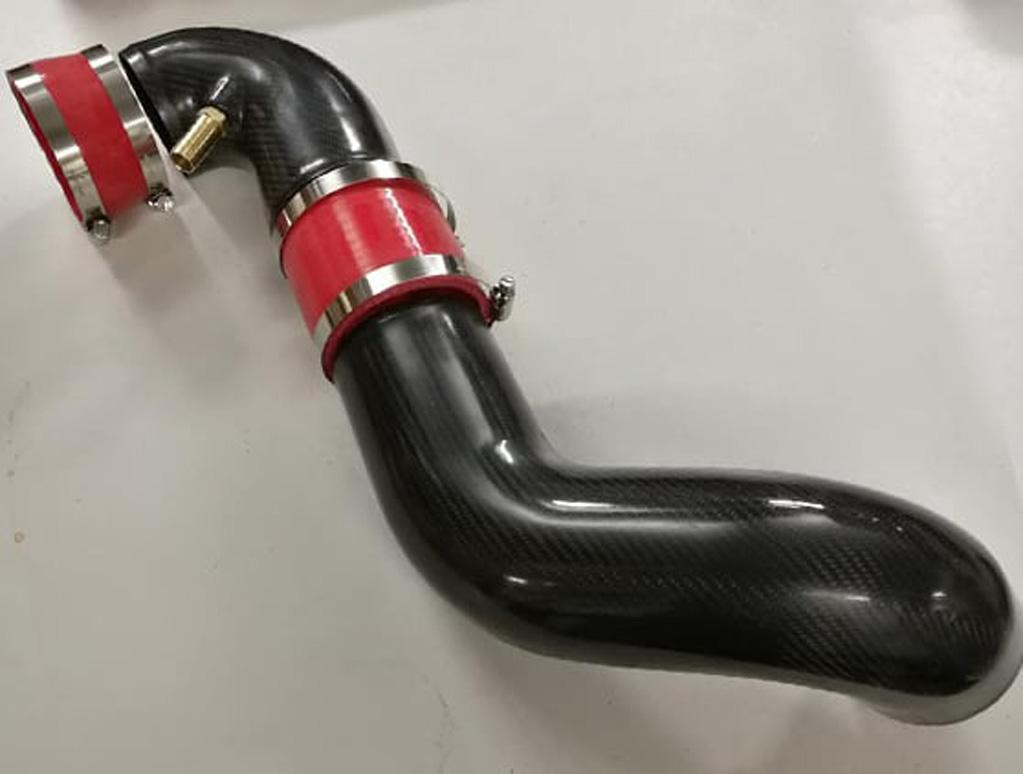 Carbon fibre V6 intake pipe kit