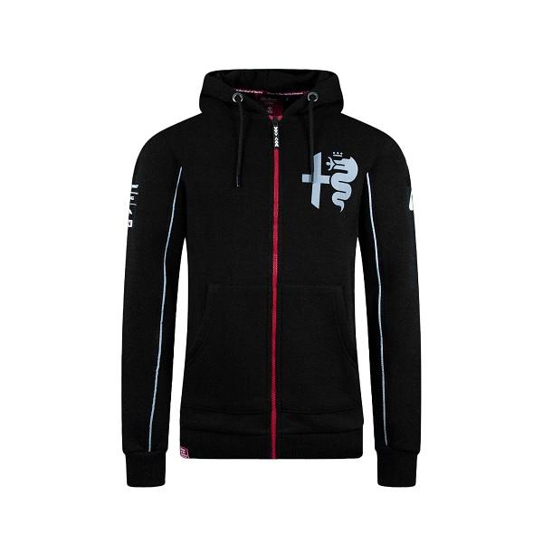 Alfa Romeo silver men's tribute zipped hoodie