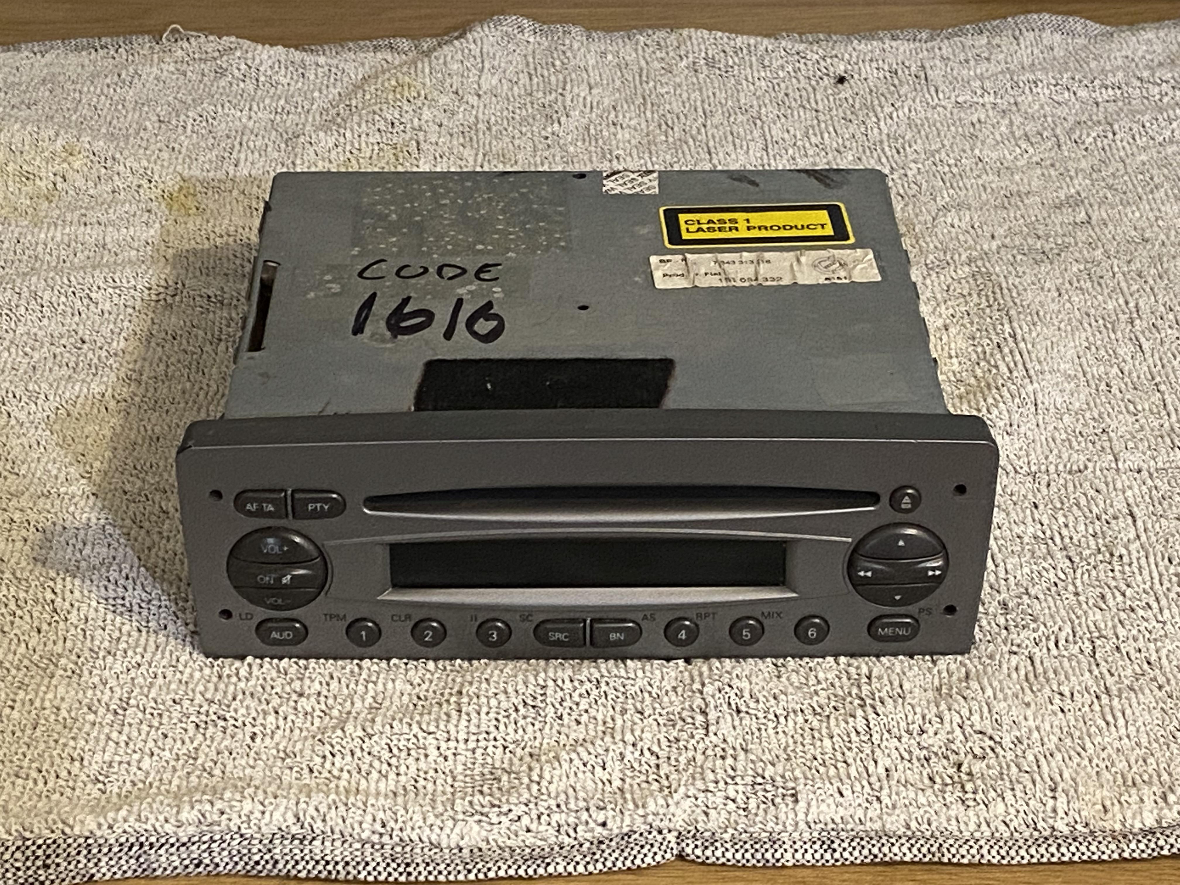 2003-2006 Facelift Alfa Romeo GTV & Spider 916 Radio Stereo CD Player Head Unit