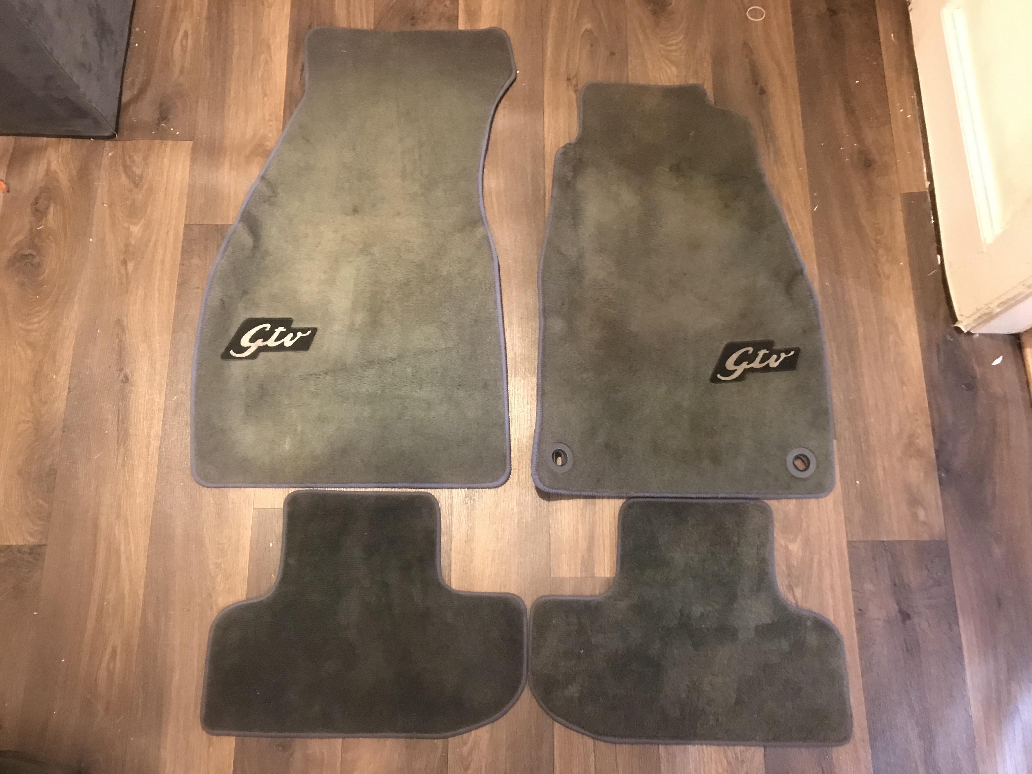 Alfa Romeo GTV 916 OEM Original Grey Floor Mats Carpet Overmats